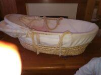 Moses basket /hardly used