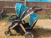 Double oyster pram good Condition have some scrach