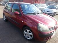 RENAULT CLIO 1.2 EXPRESSION 2003 REG ALLOYS