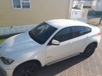 Bmw x6 30d in white with black 20inch wheels comes with full bmw service history 8speed auto