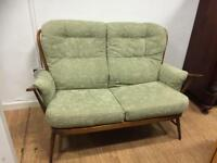 Ercol 2 seater framed couch