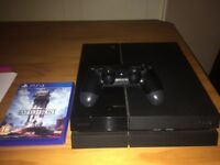 Sony PlayStation 4 inc pad and Battlefront