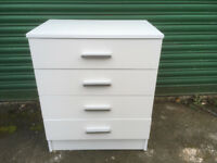 White chest of 4 drawers