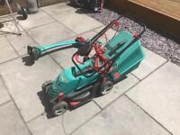Bosch Rotak 34R lawnmower and strimmer