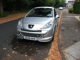 PUEGEOT 207 1.6VTI. 85K. 7 MONTH MOT.SILVER WITH FULL FACTORY SPORT BODY KIT.