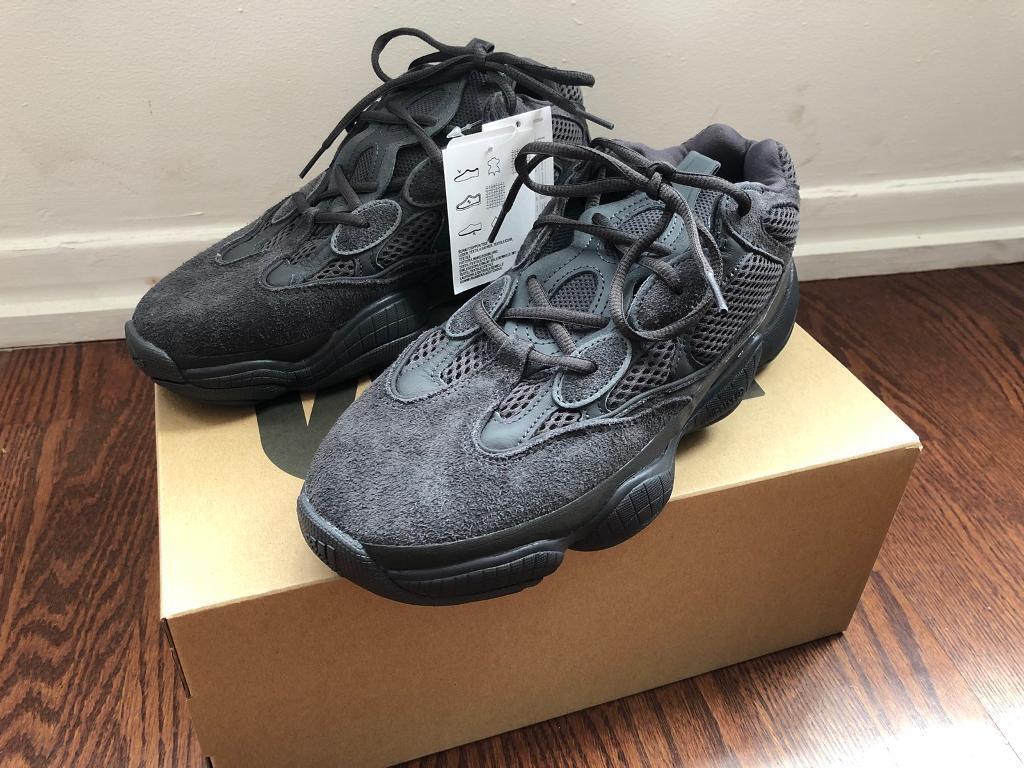0553de819 Adidas yeezy 500 utility black deadstock uk 9