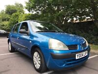 Renault Clio 1.2 Expression 2004 12 months test cheap low mileage