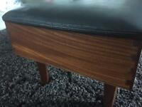 Stunning retro vintage sewing stool with contents