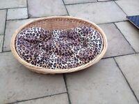 Large wicker dog basket/bed