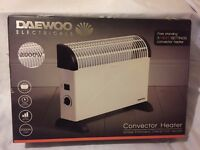 Daewoo Electric 2 KW Convector Heater - Wall Mounted Or Free Standing. New