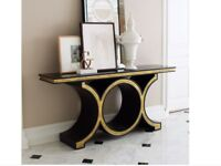 Black console table, solid oak, RPP more than £3,000 !!