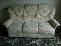 Three seater sofa & matching chair