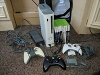 Xbox 360 20GB - 3 Controllers - 8 Games - Fully Working