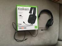 Xbox One (PS4 and PC) Tritton headset 3.5mm jack