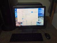 "Packard Bell Desktop PC - Intel Quad Core - 4GB RAM - 1TB - 19"" HP HD Screen - Windows & Office"