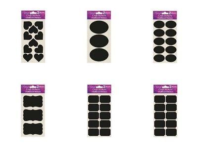 Chalkboard Label Stickers Ideal for Crafts Card Glass Jars Per Sealed - Chalkboard Crafts