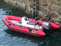 Zodiac pro 4.2mtr ribb,not speedboat, perfect for summer