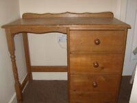 Old Vintage Solid Wood Desk/Dressing Table