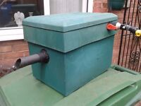 Pond filter box and pond pumps