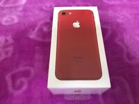 iPhone 7 128GB Red Edition brand new in box Factory Unlocked Sim-free warranty proof of receipt