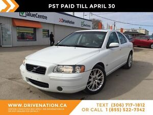 2005 Volvo S60 2.5T AWD, LOW KM! RIDE IN STYLE!