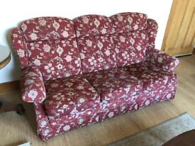 Parker Knoll Terracota Flower Suite - Sofa and 2 x Chairs