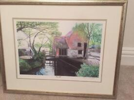 Beautiful limited print of Christchurch mill by local artist