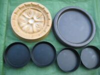 Brand New Shortbread Mould, Small Tala Flan Baking Tin and 4 Small Pie/Tart Baking Tins
