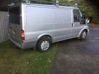 2004 ford transit short PSV,new roof rack,tow bar,panelled/ shelved,will need clutch soon