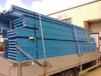 PALLET RACKING BARGAIN LOTS TO CLEAR 5m FRAMES £35 + 3m BEAMS £8 HURRY