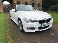 2014 BMW 318D MSPORT WHITE WITH RED LEATHER AUTO 320