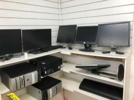 Assorted PC's and monitors LOT