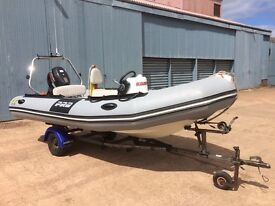 4.7m RIB. - ZODIAC PRO 9 MAN with SUZUKI DF 50 outboard, on Indespension Trailer