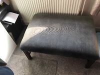 Footstool upholstery project With fabric -£30