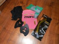 Swim Bag with Finis Snorkel Jr (New) + Additional items