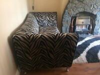Animal print DFS sofa