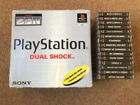 Original boxed PlayStation PS1 with games.