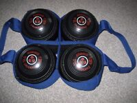 Bowls, set of 4 - Indoor Short or Long Mat / Lawn - Carrier included