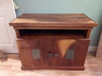 Solid Wood Rustic Sideboard / TV Unit Stand