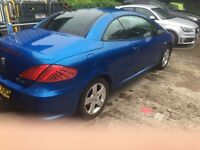 Peugeot 307 Convertible, Low Miles, great fun, Possible PX try me