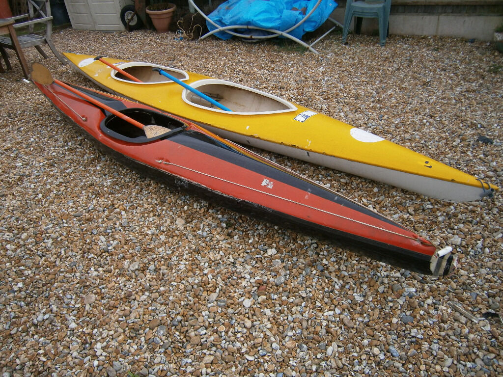 2 KAYAKS FOR SALEin Lydd, KentGumtree - 2 KAYAKS FOR SALE. £75.00 O.N.O. THE FIRST KAYAK IS 1 X 2 SEATER AND IS 16FT LONG. THE SECOND KAYAK IS 1 X 1 SEATER AND IS 13 1/2FT LONG. DONT KNOW MUCH ABOUT BOATS. ALL THAT I CAN SEE IS THE 2 SEATER NEEDS A VERY SMALL GLASS FIBER REPAIR (SEE...