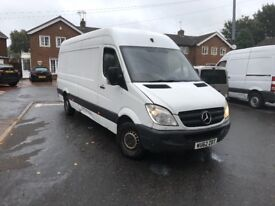 MERCEDES SPRINTER 313CDI,LWB,CREW VAN-5 SEATS,2012,165K MILES,NEW MOT,1 OWNER,HPI CLEAR,NO VAT