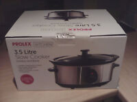 Prolex 3.5 litre slow cooker - unused present