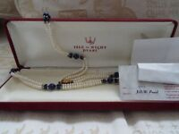 Pearl and Lapis Lazuli necklace.