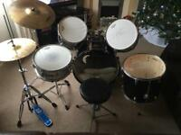 Peavey International Series 5 Piece Drum Kit Black (Modified)