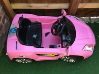 Battery operated drive in kids children's toy car