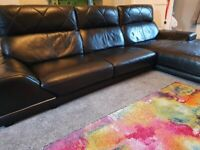 NEED GONE ASAP Black leather couch