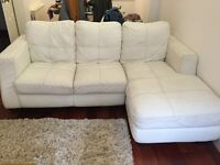 *FREE FOR UPLIFT* White Leather Chaise-longe Sofa, Very Comfortable