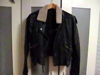 Topshop biker leather jacket