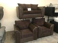 2 Seater sofa with 2 Chairs NEW